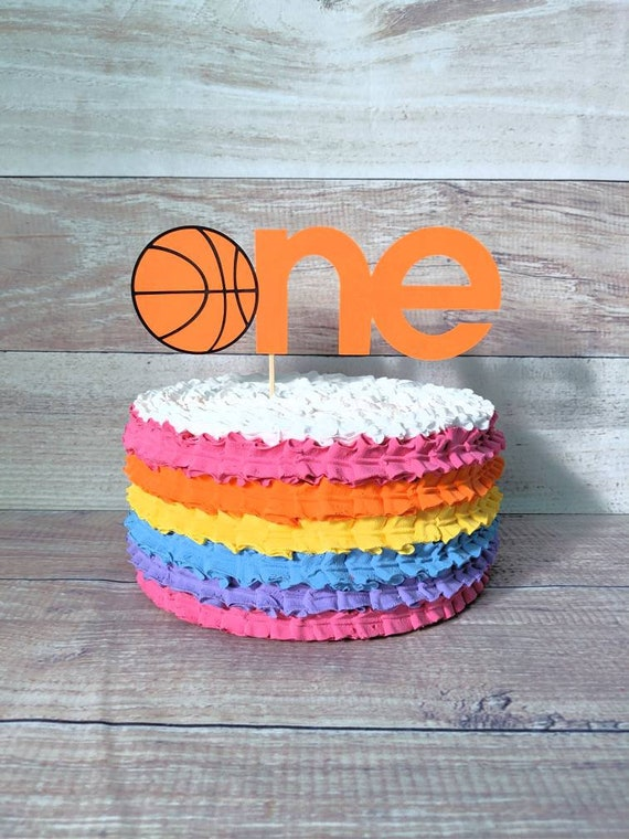 Peachy Basketball Cake Topper Basketball 1St Birthday Cake Topper Etsy Funny Birthday Cards Online Alyptdamsfinfo