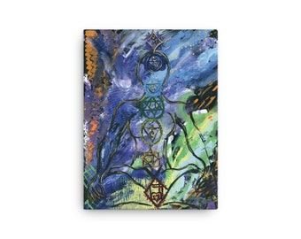 """Canvas print of painting  titled """"centered"""" by Red Rose Grace"""