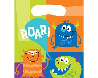 Monster Birthday Party Treat Bags/ Monster Party Loot Bags/ Monster Party/ Monster Favor Bags