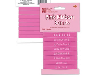 Breast Cancer Awareness Silicone Bracelets/ Breast Cancer Awareness Favors/ Breast Cancer Awareness