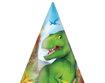 Dinosaur Party Birthday Hats/ Dinosaur Party Hats/ Dinosaur Birthday/ Dino Party