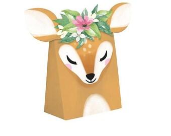 Our Little Deer is One Decor Deer First Birthday Sweet Deer Favor Bags- 8 CT Deer Favors Deer Birthday Deer Baby Shower