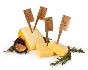 Country Home Wooden Cheese Markers