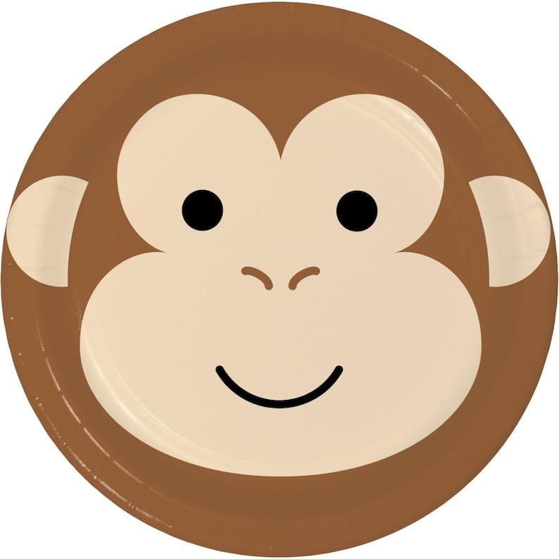 Jungle Party Plates Jungle Animals Party Supplies- Safari Plates Safari Party Decor Monkey Napkins Monkey Party Plates