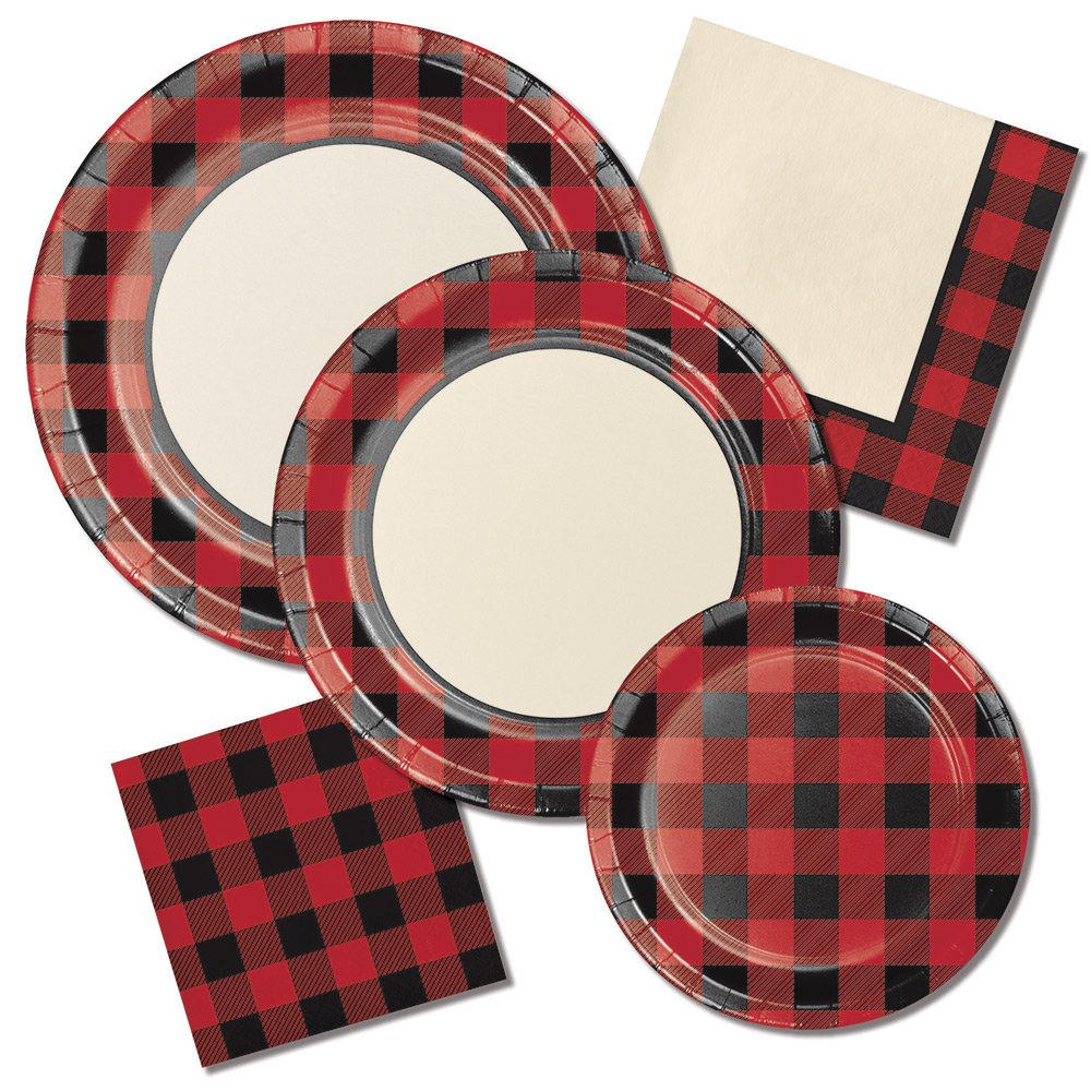 $2.80  sc 1 st  Etsy Studio & 8 CT Plaid Small Paper Plates/ Buffalo Plaid Paper Plates ...