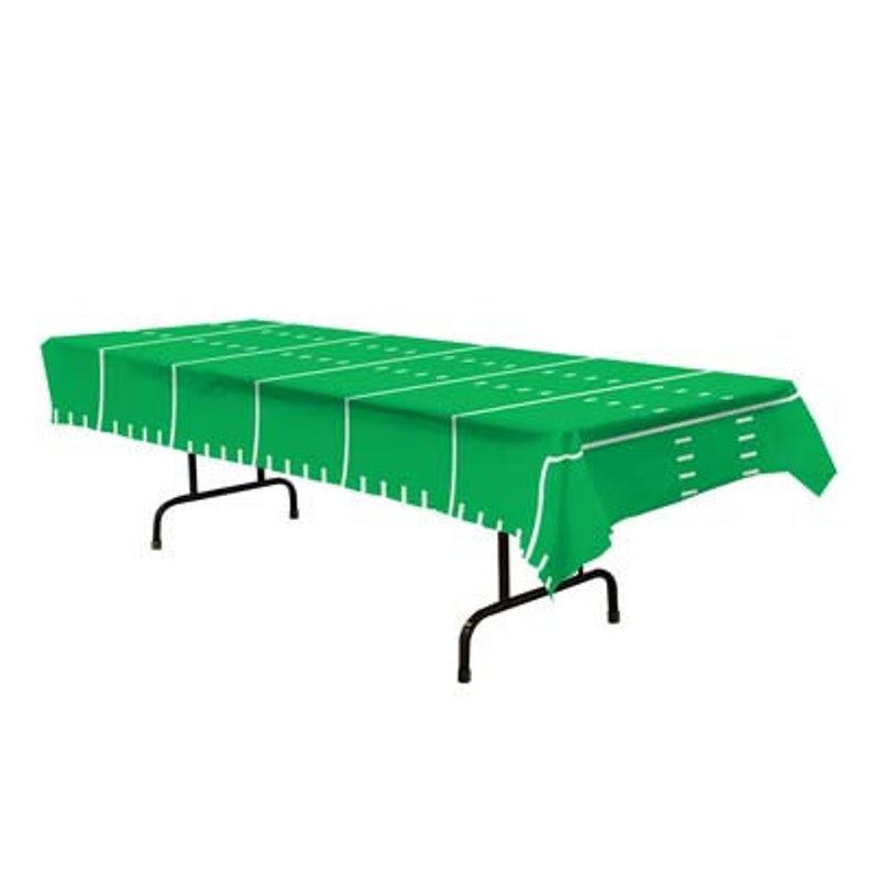 Football Party Table Cover Football Field Table Cover Football Party Decor