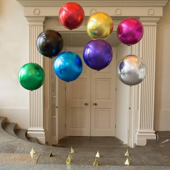 Large Round Balloon Round Metallic Balloon Glamorous