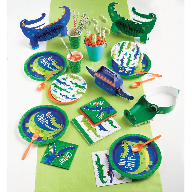 Alligator Party Cups- Alligator Small Cups Swamp Birthday Alligator Theme Alligator Party Decor Alligator Birthday Party