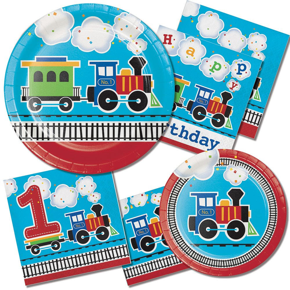 $2.90  sc 1 st  Etsy Studio & 8 CT Train Large Paper Plates/ Luncheon Train Birthday Party Plates ...