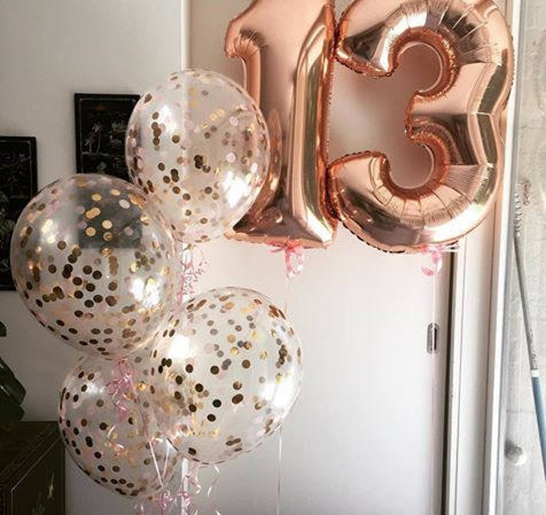 Giant 34 Rose Gold Balloon Numbers/ Rose Gold Number image 0
