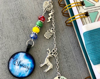 After all this Time Always Harry Potter planner charm, TN charm, bag charm. deer charm, owl charm, hogwarts.
