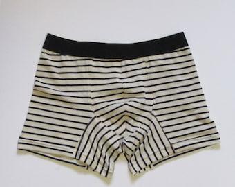 Linen and Cotton blend underwear for boys, teens, adults, organic boxer briefs, men briefs, organic trunk, guys underwear, custom handmade