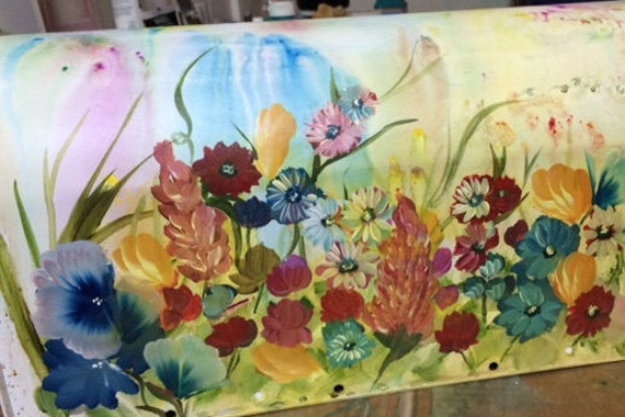 Custom Painted Mailbox Painted Wildflowers Mailbox Artistic Etsy