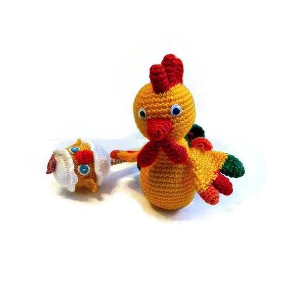 Amigurumi Pattern Rooster Crochet Pattern Crochet Rooster Etsy