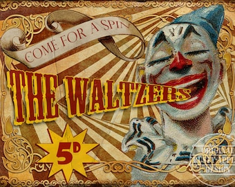 The Waltzers  Vintage Retro Style Metal Sign Funfair Circus Carnival  3 Sizes To Choose From