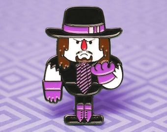 Enamel Pin Undertaker   Wrestling Enamel Pin WWF WWE