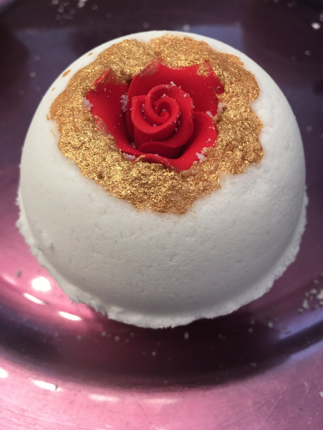 Rose Bath Bomb With Surprise Necklace Inside Or Ring Etsy