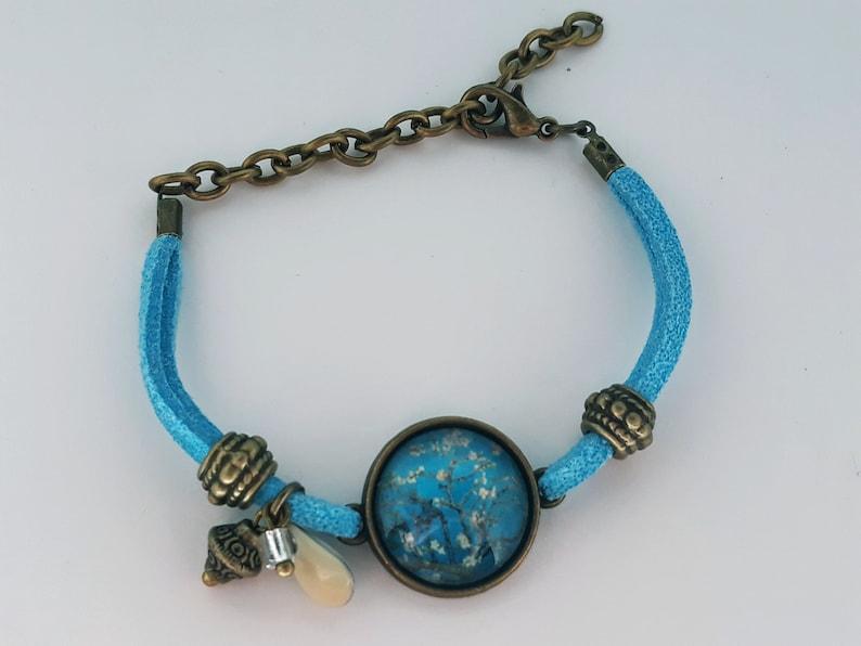 Vincent Van Gogh . Adjustable bracelet Cherry blossoms