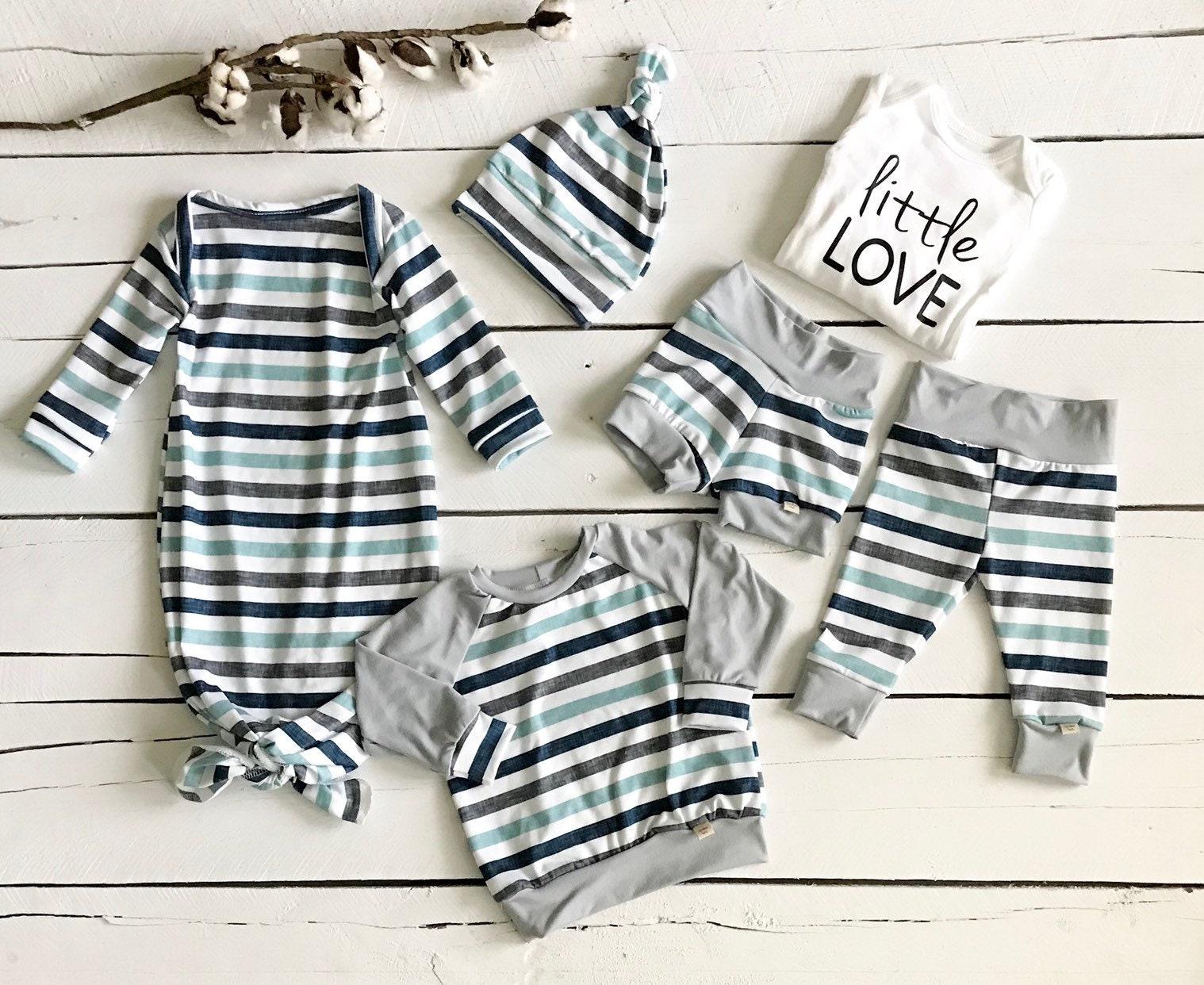 Baby Boy Set Newborn Gown Reglan Baby Leggings Shorts Etsy