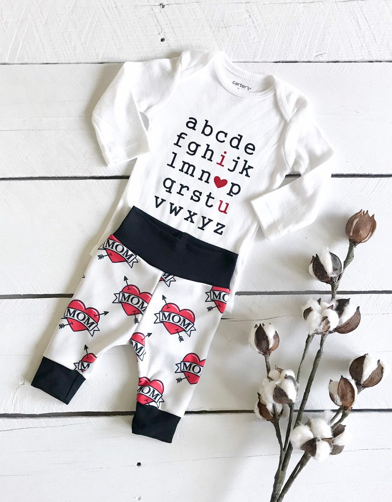 Super soft stretch jersey personalised baby leggings