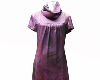 Dress - Purple silk