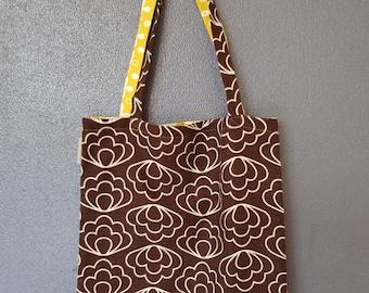 Bag - Flower brown