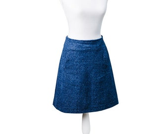Jeans skirt with cherry