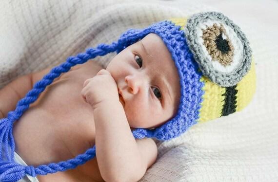 e26b579c867 Crochet Despicable Me Minion Hat Beanie Cap Halloween