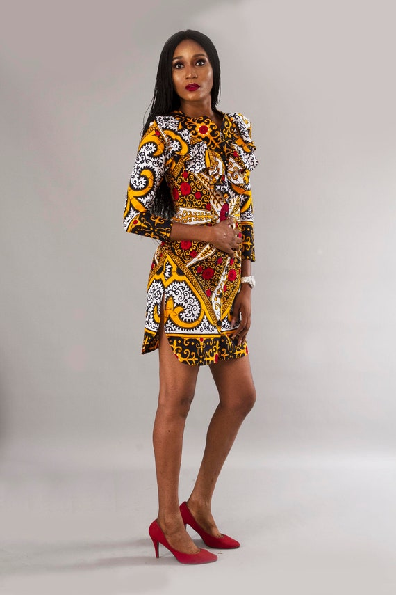 Free Headwrap And Mask African Ankara Plus Size Prom Party Etsy,Hot Weather Simple Wedding Dresses 2020
