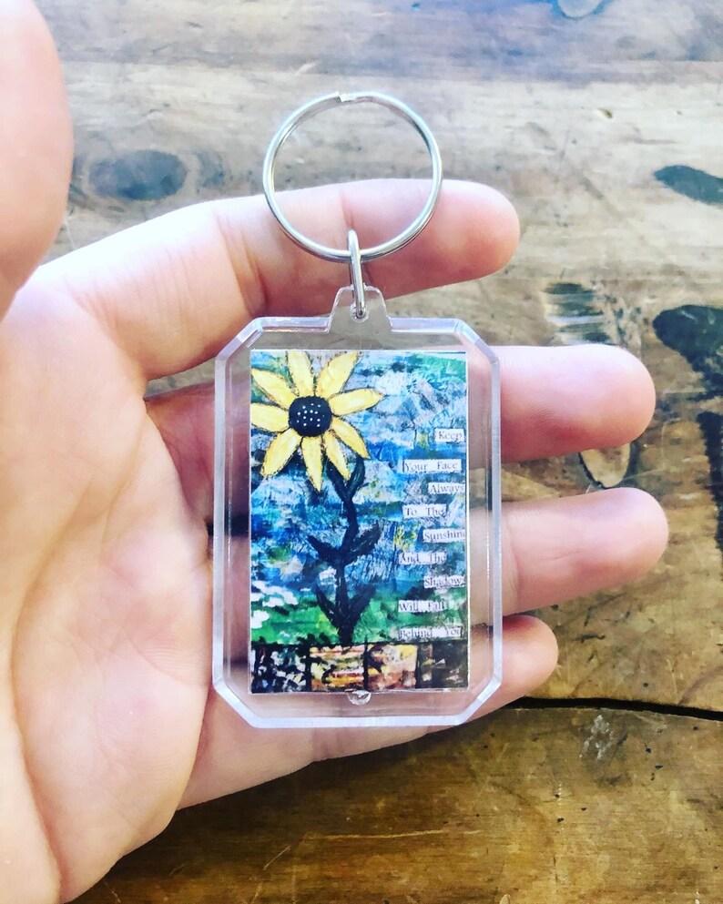 picture keychains Inspiring art print keychains