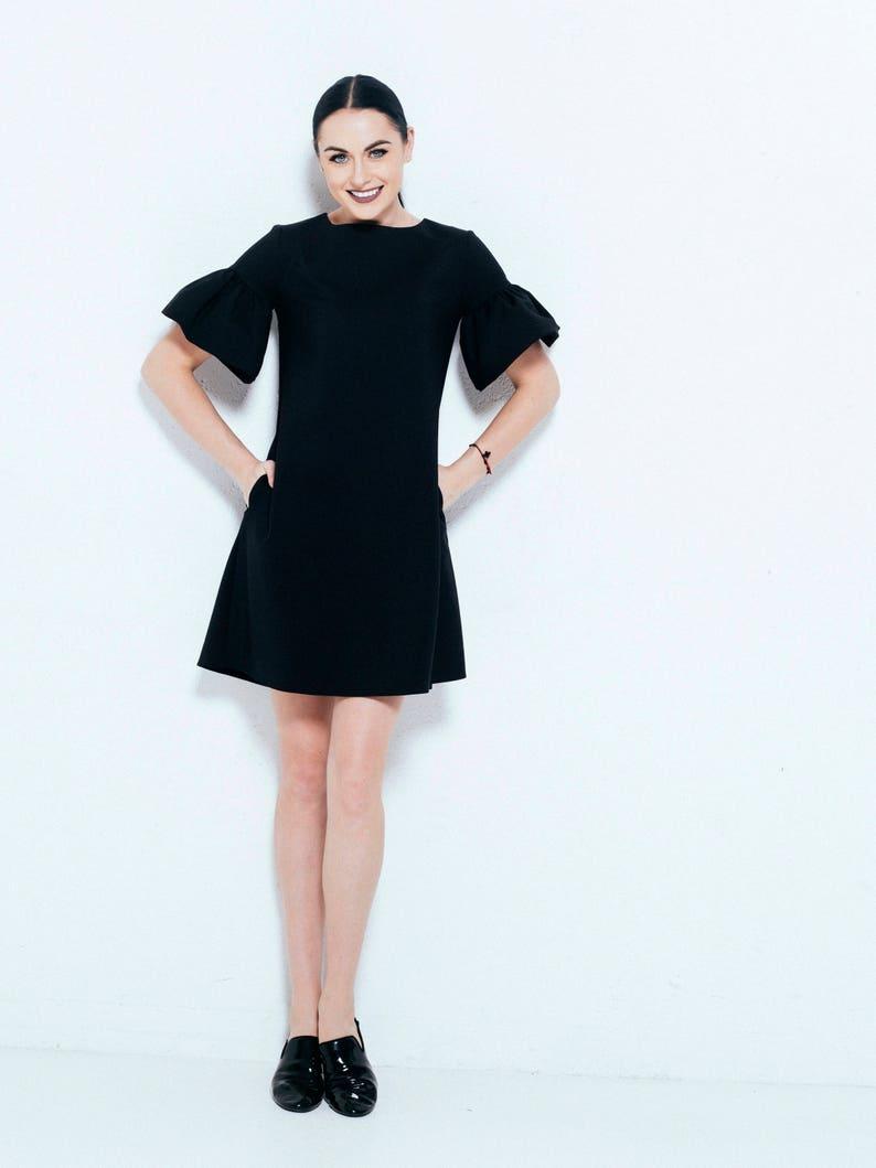 5911cb302b Sukienka Bawełniana sukienka suknia dresowa Midi sukienka z