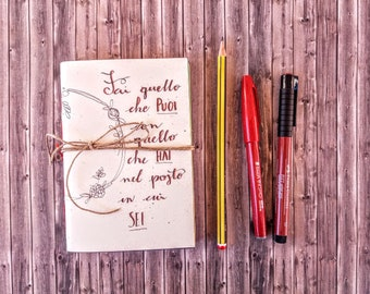 Pocket Notebook With Motivational Aphorism And Multicolored Etsy