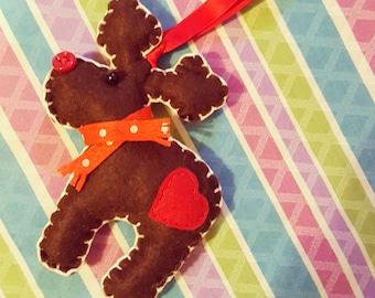 Felt reindeer Christmas decoration