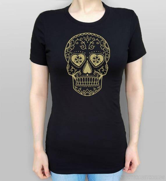e7c19db6fe8 Sugar Skull Shirt Sugar Skull T-Shirt Day of the Dead Calavera