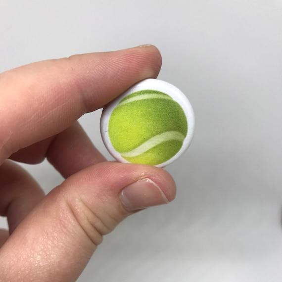 Tennis Ball Emoji 1 Button Etsy