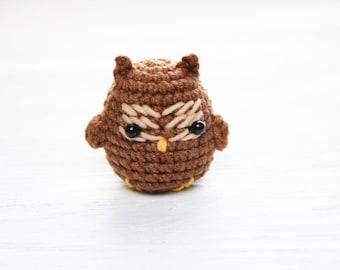 Miniature owl Decorative toy Apartment accessory