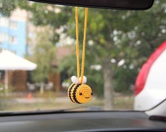 Tiny bee car rear view mirror
