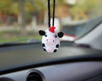 New Year cow car mirror hanging
