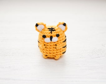 Amigurumi tiger Miniature plush toy Safari animal gift