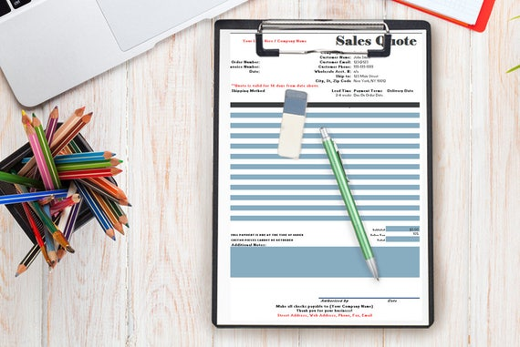 sales quote form simple to use order form document for your etsy