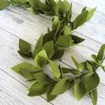 Faux greenery garland - Green leaf garland -Evergreen garland -Christmas swag -Vertical garden- Boho backdrop -Boho floral nursery