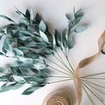 Artificial single eucalyptus stem- Eucalyptus wedding bouquet -Felt eucalyptus-Felt bouquet arrangement-Greenery stem-Boho floral decor gift