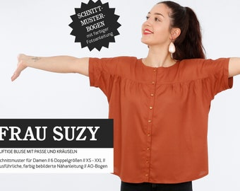 Sewing pattern - women - cut-out - woman Suzy - short sleeve blouse