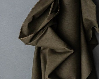 Flax Cotton Dry Oilskin - Woven Fabric - Archive Olive