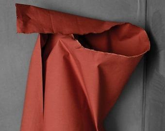 Dry Oilskin - woven fabric - waxed cotton - Rust