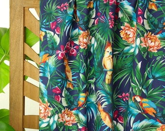 Cotton with Elastane - Weaving fabric - Atelier Jupe - Tropical Parrot