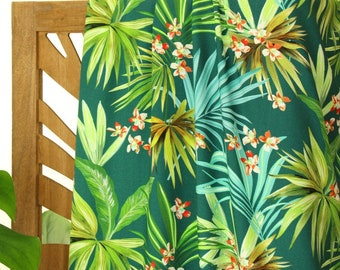 Viscose - Woven Fabric - Atelier Jupe - Tropical Palm Leaves