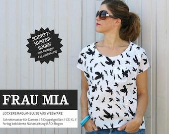 Pattern-women-cut ripe-woman MIA-Raglan blouse