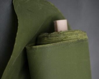 ORGANIC - Oilskin - Wove fabric - waxed cotton - grass