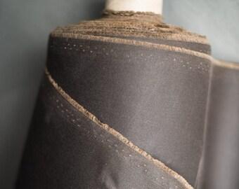 Oilskin - Woven fabric - Waxed cotton - Chocolate